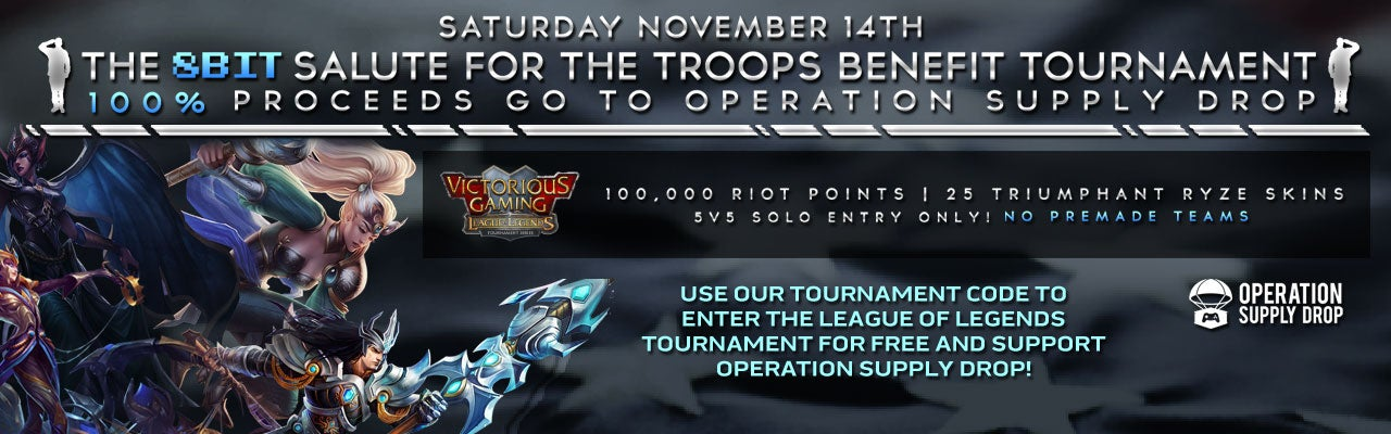 8Bit Salute for the Troops League of Legends Tournament Keys