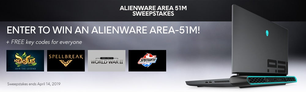 Alienware Area-51m Gleam Sweepstakes