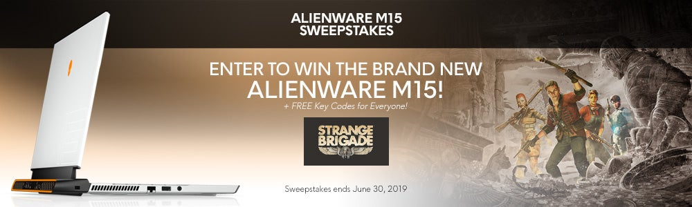 Alienware m15 Laptop June 2019 Sweepstakes