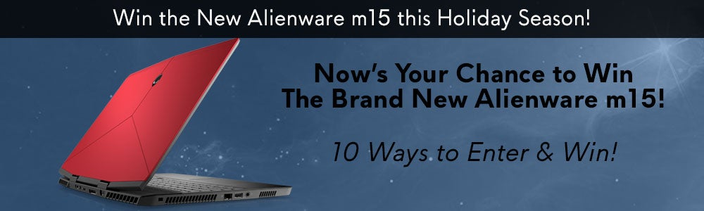 Alienware m15 Gleam Sweepstakes