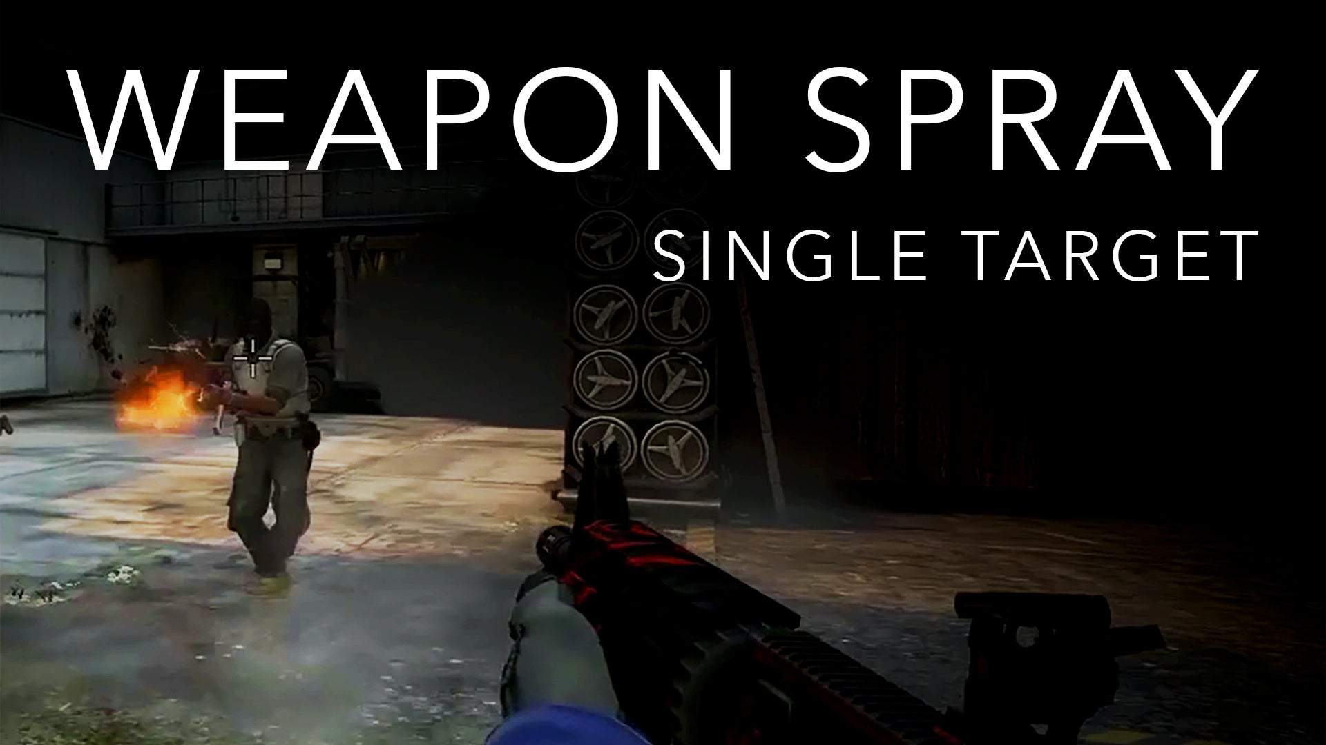 Weapon Spray for a Single, Stationary Target