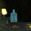 Hologram vendor in bunker
