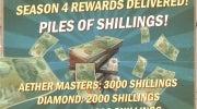 Season 4 general rewards delivered today!