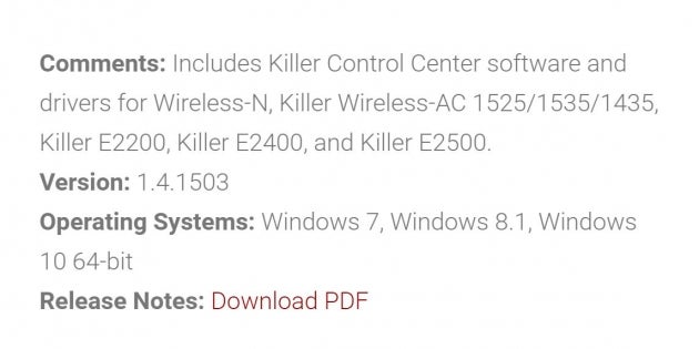 killer wireless 1535 driver download